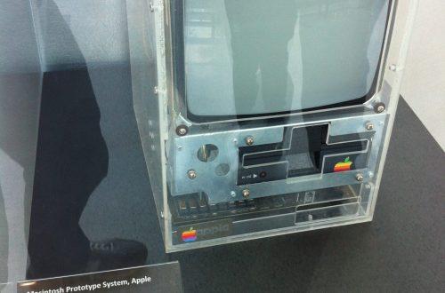Macintosh Prototype (c. 1981) on exhibit at the Computer History Museum (photo credit: Victor Grigas)